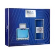 Набор ANTONIO BANDERAS BLUE SEDUCTION (ANTONIO BANDERAS BLUE SEDUCTION туалетная вода для мужчин 100 мл; ANTONIO BANDERAS BLUE SEDUCTION дезодорант спрей для мужчин 150 мл)