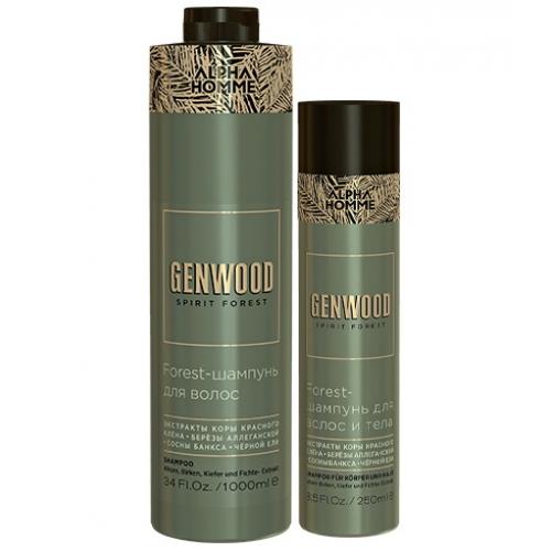 Forest-шампунь для волос и тела GENWOOD (1000 мл)